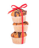 Stacked muffins Royalty Free Stock Images