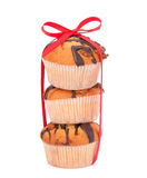 Stacked muffins Royalty Free Stock Image