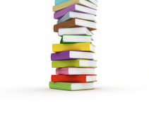 Stacked multi color books Stock Photo