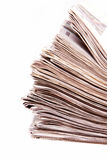 Stacked newspapers Stock Images