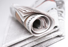 Stacked Newspapers Royalty Free Stock Photography