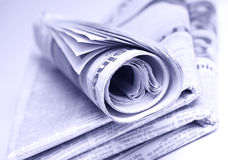 Stacked Newspapers Royalty Free Stock Photos