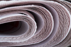 Stacked Newspapers Detail. Detail view of stacked newspapers Royalty Free Stock Photography