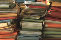 Stacked office files Royalty Free Stock Image
