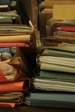 Stacked office files Royalty Free Stock Photo