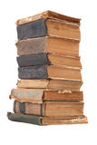 Stacked old books of different shape and color Royalty Free Stock Images