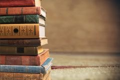 Stacked old books Royalty Free Stock Photo