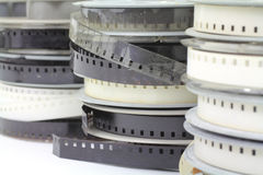 Stacked old home movie reels Royalty Free Stock Image