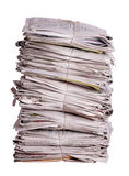Stacked old newspapers royalty free stock images