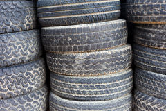 Stacked old tires background Royalty Free Stock Image