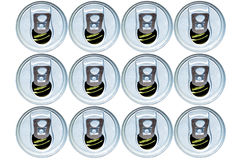 Stacked open cans Royalty Free Stock Photos