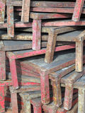Stacked Palettes Royalty Free Stock Photography