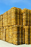 Stacked pallets Stock Image