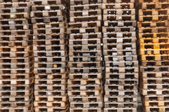 Stacked Pallets Stock Photography