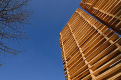 Stacked pallets Royalty Free Stock Image
