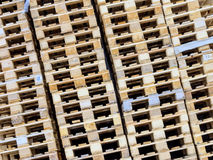 Stacked pallets Royalty Free Stock Images