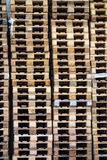 Stacked pallets Royalty Free Stock Photo