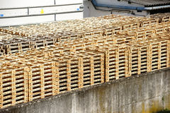 Stacked pallets Royalty Free Stock Photos