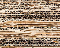 Stacked paperboard Royalty Free Stock Image