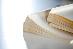 Stacked Papers On Table Royalty Free Stock Images