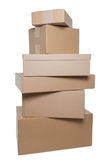 Stacked parcels Stock Photo