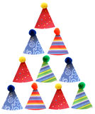 Stacked party hats stock image
