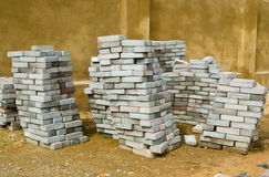 Stacked paving tiles Stock Image