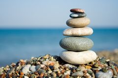 Free Stacked Pebbles Royalty Free Stock Image - 2802476
