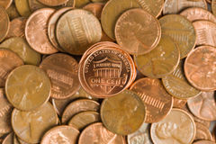 Stacked Pennies Royalty Free Stock Photo