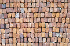 Stacked pile of building bricks Stock Photo