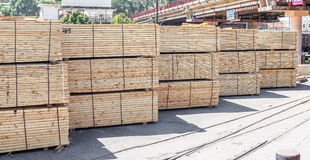 Stacked piles of timber product Royalty Free Stock Photography