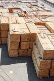 Stacked piles of timber product Royalty Free Stock Photos