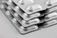 Stacked pills tablets Stock Photo