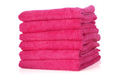 Stacked pink towels Royalty Free Stock Image