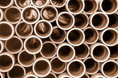 Stacked pipes Royalty Free Stock Image