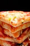 Stacked pizza closeup Stock Images
