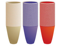Stacked plastic cups Royalty Free Stock Photo