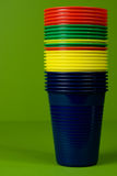Stacked plastic cups Stock Photography