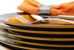 Stacked plates Stock Photography
