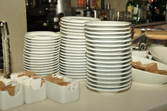 Stacked plates Royalty Free Stock Photos