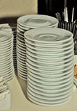 Stacked plates Royalty Free Stock Images