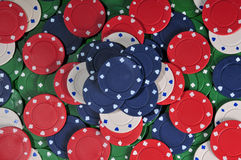 Stacked poker chip abstract Stock Photography
