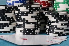 Stacked Poker Chips Stock Photo