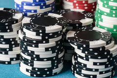 Stacked Poker Chips Stock Image