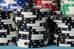 Stacked Poker Chips Royalty Free Stock Images