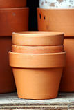 Stacked Pots Stock Image
