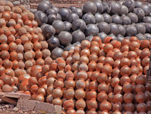 Stacked Pots in Rajasthan Stock Photo