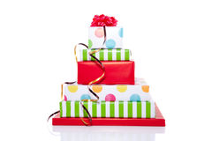 Stacked presents Stock Photo