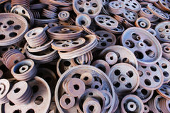 Stacked pulley Royalty Free Stock Images