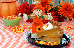 Stacked Pumpkin Pie Stock Images